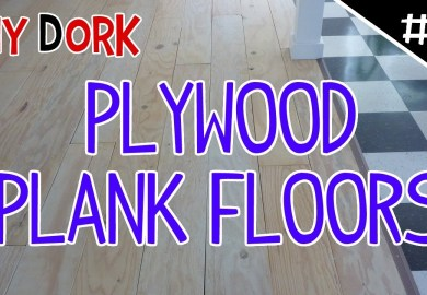 Low Budget Diy Plywood Plank Floors Part 2 Diydork