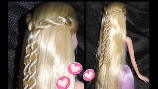 ❤Penteado Barbie Torcidinho(Hairstyle Barbie twisted)