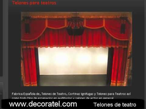 Telones para teatros  Telones de teatro  Cortinas