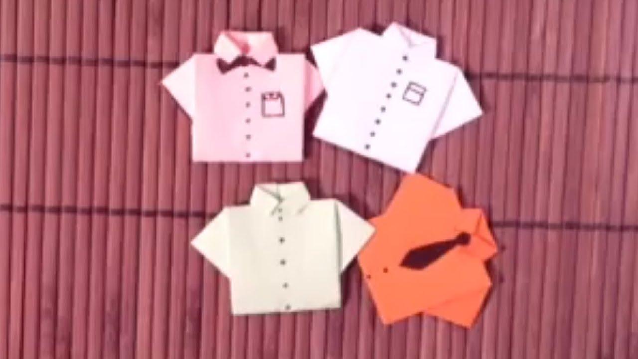 Faire des chemises en origami  Astuce pliage  YouTube