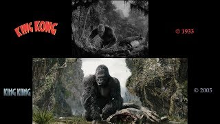 King Kong: Side-by-Side (1933 Film/2005 Film Comparison) V2