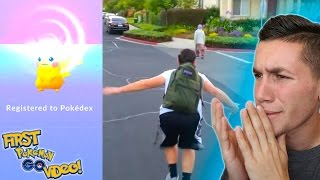 REACTING TO MY FIRST POKEMON GO ! 1,000 on !