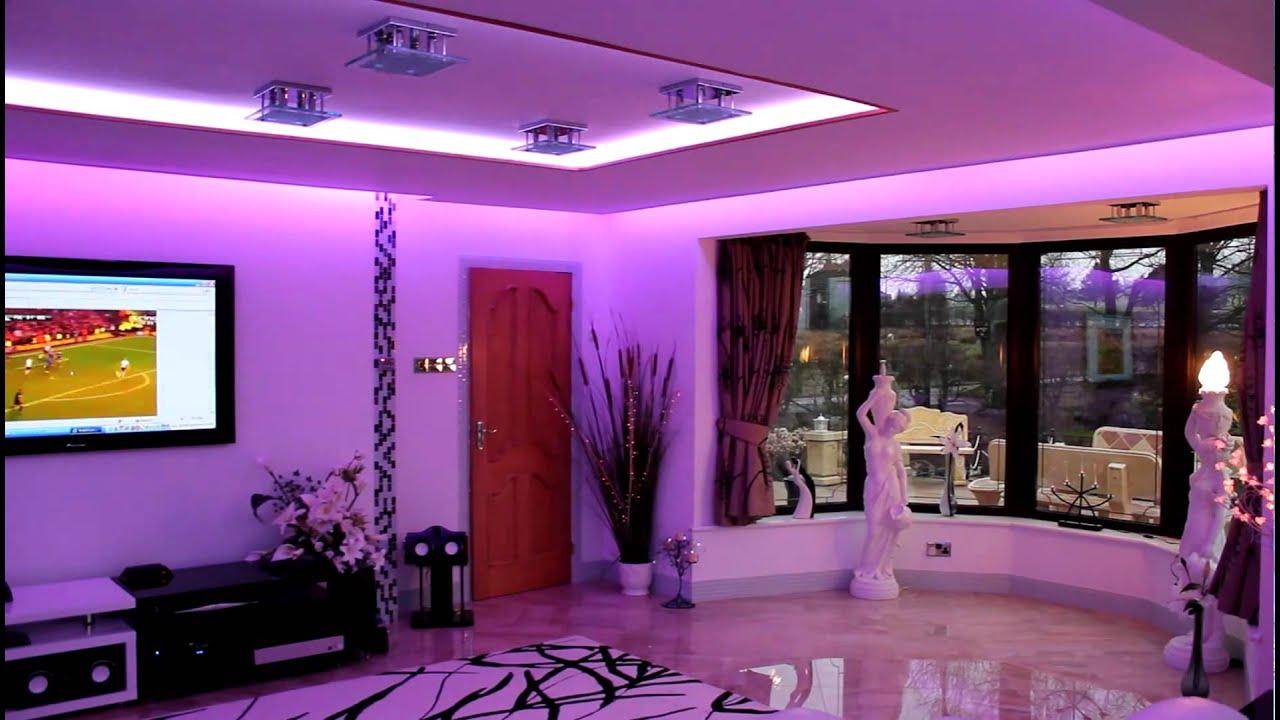 Iluminacin Interiores LED  YouTube