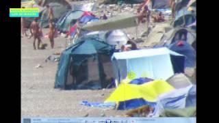 Нудисты пляж Лисья Бухта Черное море Крым Нудисты из всей Европы