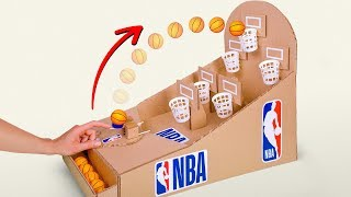 Let's Play NBA Basketball Board Game from Cardboard