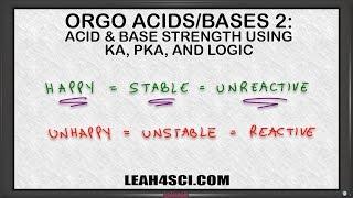 Ranking Acid Base Strength Using Ka pKa Values Leah4sci