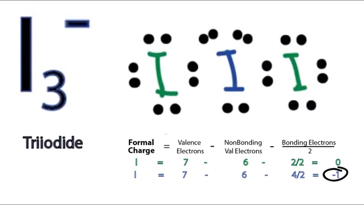 electron dot diagram for potassium wiring light switch australia i3- lewis structure - how to draw the youtube