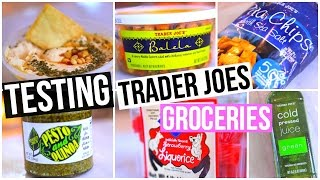 Testing Trader Joe's Groceries! Grocery Haul w/ Carrie Rad!