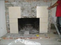 Fireplace Refacing From Brick to Tile - YouTube
