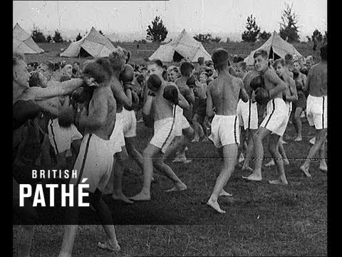German Youth Camp Scenes 1937  YouTube