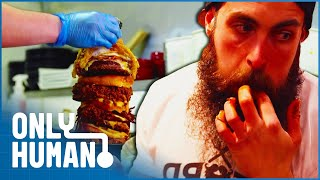 Mr. ″Beard Meat Food″ is Every Buffet Owner's Nightmare | Britain's Buffet Hunters | Only Human