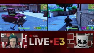 Ninja and Marshmello Play Fortnite at the Live at E3 Studio Part 1