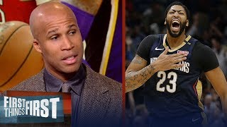 Richard Jefferson says AD is the 'most likely' choice to join the Lakers   NBA   FIRST THINGS FIRST