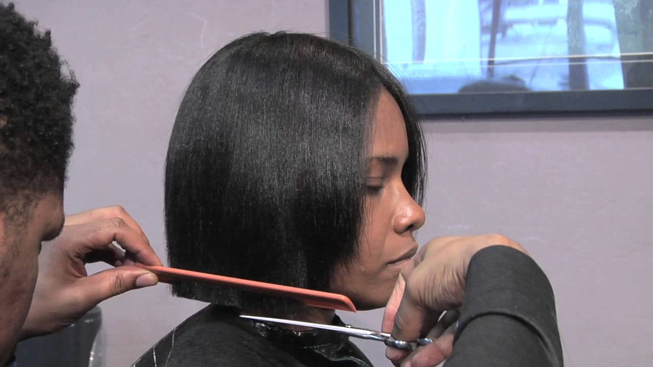 How To Cut A Short Bob Style Hair Cut Hair Care