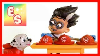 PJ Masks Romeo and Paw Patrol Marshal Make Friends with Magic! | Stop Motion - Ellie Sparkles