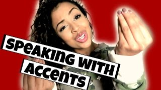 IM FROM THE WORLD! SPEAKING WITH ACCENTS | Lizzza