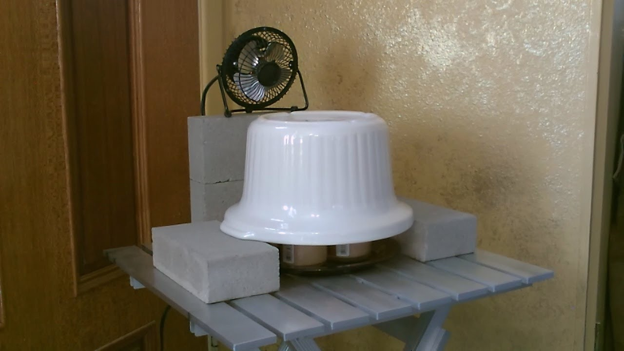 Candle Powered Stoneware Air Heater wfan  DIY Ceramic Space Heater  293F  YouTube