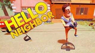 Hello Neighbor - Trapping the Neighbor - Secret Ending? - Let's Play Hello Neighbor Gameplay