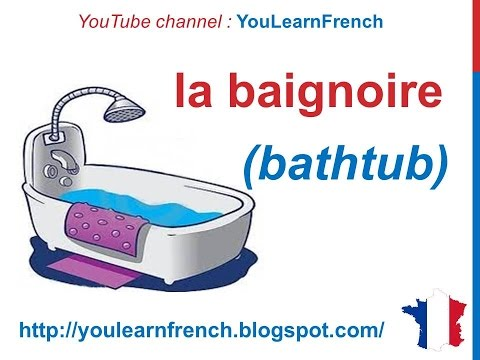 French Lesson 83  Bathroom  La Salle De Bain