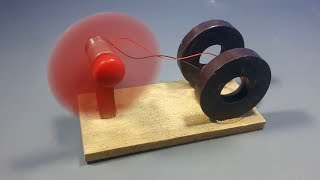 free energy generator device with magnet & dc motor science experiment at home