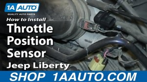 How To Install Replace Throttle Position Sensor 37L 200206 Jeep Liberty  YouTube