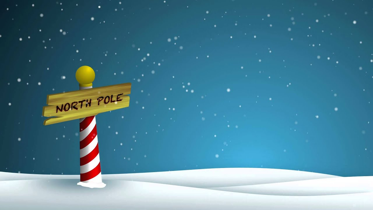 Moving Falling Snow Wallpaper North Pole Hd Background Loop Youtube