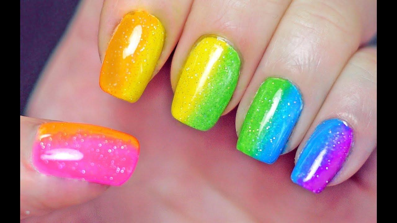 12 Radiant Rainbow Nail Art Designs