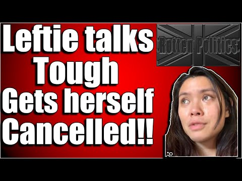 leftist talks tough, Gets herself cancelled and blames trump voters for her actions,typical!