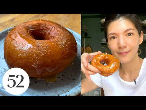Pillowy-Soft Salted Honey Mochi Bread Doughnuts   At Home With Us