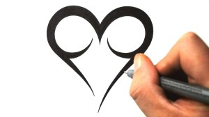 easy draw designs heart cool simple hearts drawings tribal drawing tattoo cliparts tattoos line clipartmag maori newdesignfile