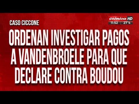 Caso Ciccone: piden revisar los dichos de Alejandro Vandenbroele