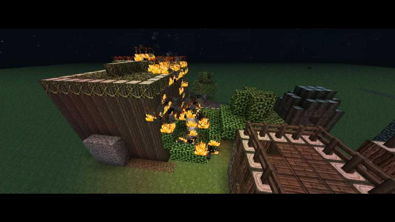 Village fire Minecraft  YouTube