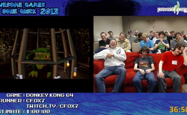 Awesome Games Done Quick 2013 Blooper Reel Youtube