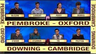 University Challenge 2018/19 E3: Pembroke - Oxford v Downing - Cambridge. 30 July 2018