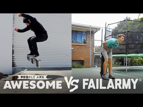Wins Vs. Fails! High Kicks, Sand Dune Backflips, Jumprope & More | People Are Awesome Vs. Fail Army