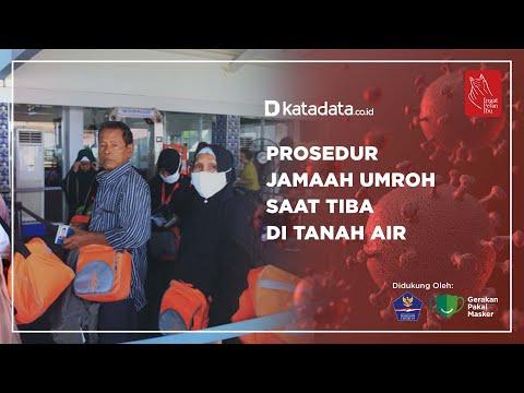Prosedur Jamaah Umroh Saat Tiba di Tanah Air | Katadata Indonesia