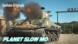 WWII Tanks Firing in Slow Motion