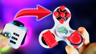 THE BEST FIDGET TOY EVER! How to Turn a FIDGET CUBE and FIDGET SPINNER INTO A 2 IN 1 SPINNER CUBE!!