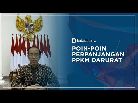 Jokowi Perpanjang PPKM Darurat, Berikut Rinciannya   Katadata Indonesia