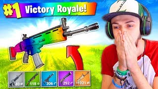 The RAINBOW GUN CHALLENGE in Fortnite: Battle Royale!