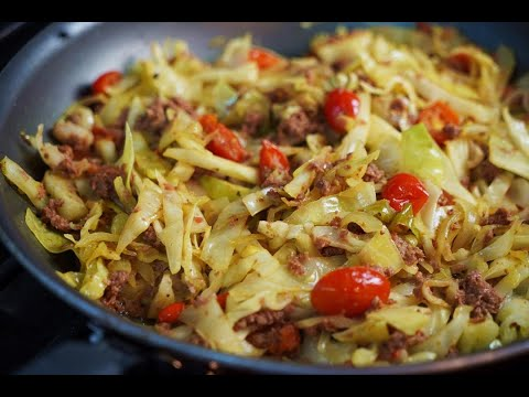 Cabbage With Leftover Cornedbeef | CaribbeanPot.com
