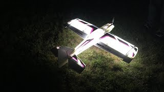 NIGHT VisionAire first flight and spectator gets hit