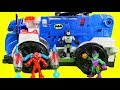 Playskool Heroes Spider-man Arachno Racer & Imaginext Batman R/C Command Center Take On Venom