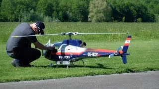 R/C TURBINE MODELL EUROCOPTER AS350 POLICE SCALE HELICOPTER