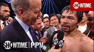 Pacquiao vs. Broner Post-Fight Interviews | SHOWTIME PPV