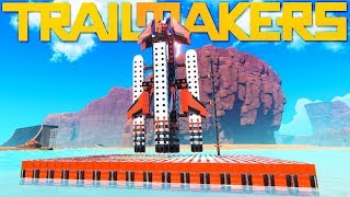 Trailmakers - 3-Stage Rocketship Build - Summer Update New Blocks & Visuals - Trailmakers Gameplay