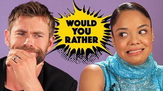 The Cast Of ″Thor: Ragnarok″ Plays Superhero Would You Rather