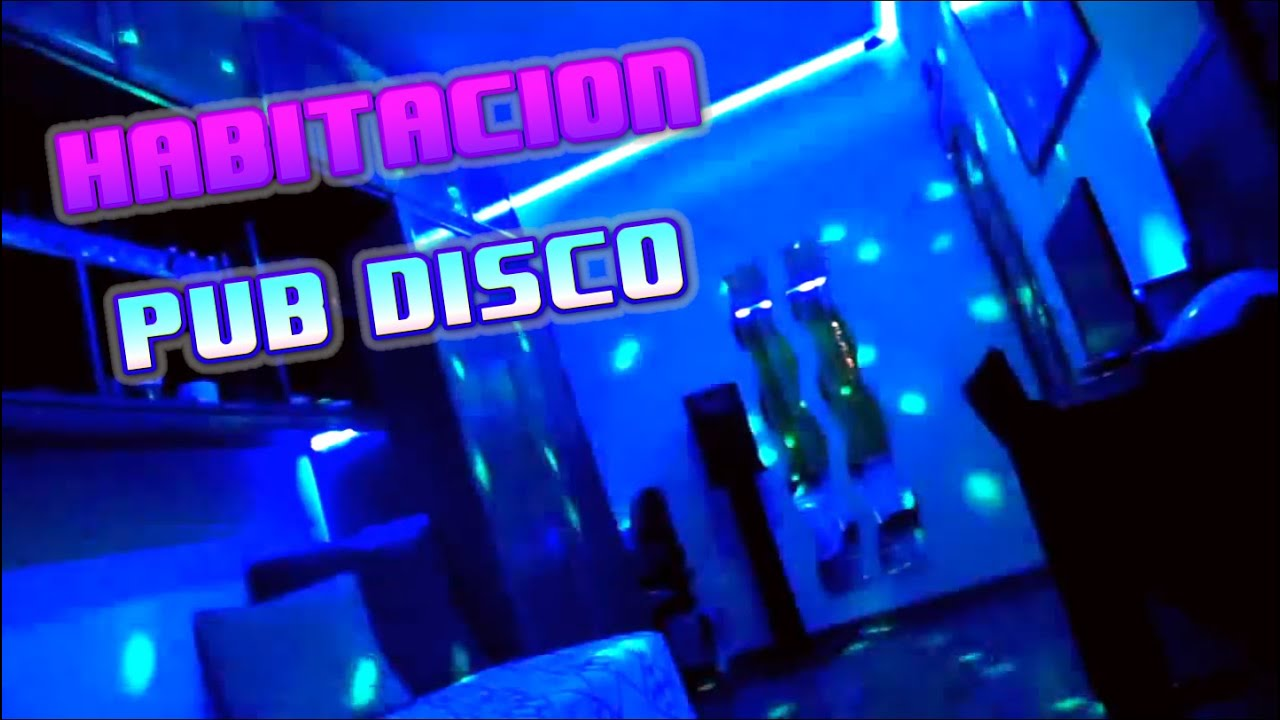 Mi cuarto Habitacin decorada con iluminacin Led  Ambiente Pub Disco  YouTube
