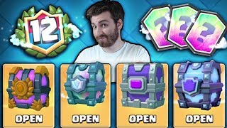 OPENING ALL RARE CHESTS!   Clash Royale   LEGENDARY CHEST & 12 WIN CHEST OPENING?!