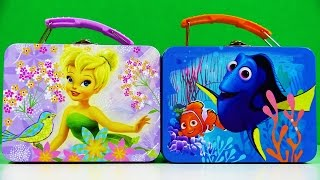 Disney Finding Dory Tinkerbell Lunch Box Tinker Bell Surprise Egg Shopkins Gift Boxes Super Wings